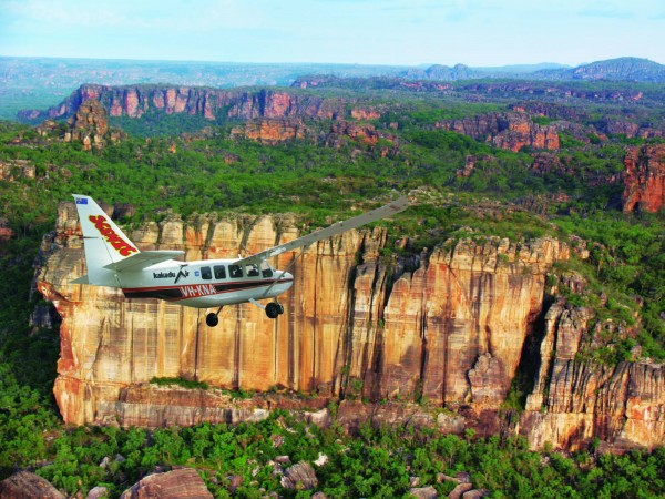 Kakadu Scenic Flight departing Cooinda