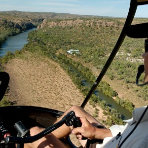 Flying over Katherine Gorge